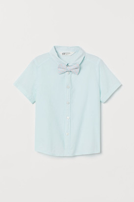 H&M Cotton Shirt and Bow Tie - Green