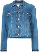 Rag & Bone fringed trim denim jacket