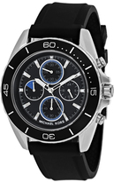 Michael Kors Jetmaster MK8485 Men's Black Silicone and Stainless Steel Chronograph Watch