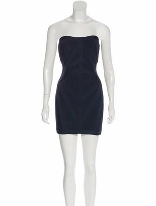 Herve Leger Christelle Bandage Dress Navy