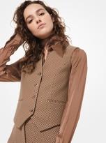 Michael Kors Herringbone Wool-Melton Vest