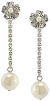 Carolee Linear Flower Drop Earrings