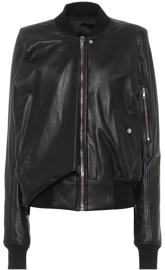 Rick Owens Seb leather bomber jacket