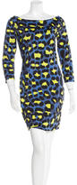 Just Cavalli Printed Cowl Neck Dress