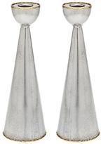 Godinger Golden Frost Bell-Shaped Candleholders (Set of 2)