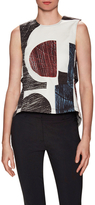 Derek Lam 10 Crosby Cotton Print Back Vent Top