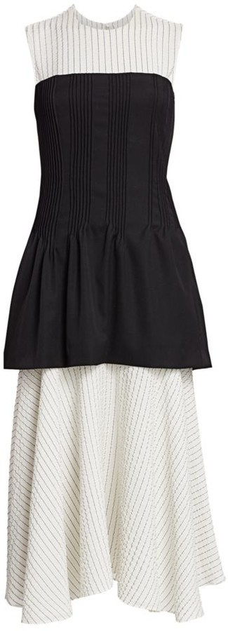 Nina Ricci Removable Corset & Pinstripe Dress