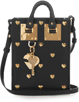 Sophie Hulme Nano Albion studded-heart leather bag