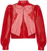 Gucci Leather jacket with bow