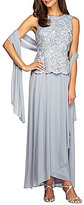 Alex Evenings Embroidered Mock 2-Piece Gown