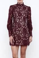 Do & Be Fluffed Sleeve Lace Dress