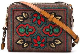 Etro Floral-Embroidery Crossbody Bag