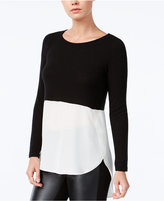 Bar III High-Low Colorblocked Top, Only at Macy's
