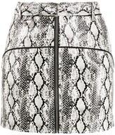 For Love & Lemons snakeskin print mini skirt