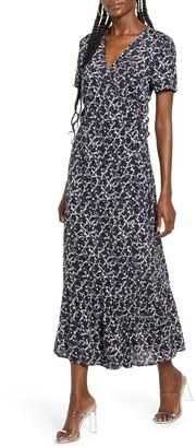 Vero Moda Nille Short Sleeve Woven Maxi Wrap Dress