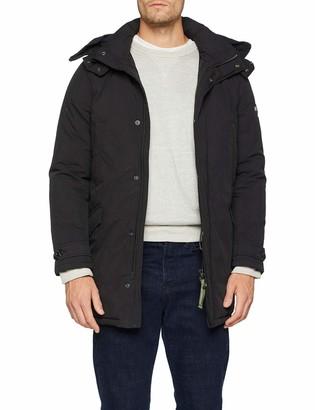Scotch & Soda Men's Lightweight Padded Long Parka Jacket