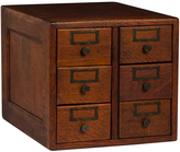 Rejuvenation Oak 6-Drawer Card Catalog c1920