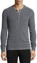 Michael Kors Merino Wool Waffle-Knit Henley Shirt