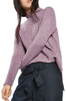 Topshop PETITE Oversized Ribbed Sweater