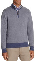 Brooks Brothers Herringbone Cotton Cashmere Half-Zip Sweater