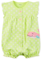 Carter's Dot-Print Whale Romper, Baby Girls (0-24 months)