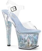 Pleaser USA Women's Radiant 708THG Ankle-Strap Sandal