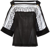 Alberta Ferretti lace detail blouse - women - Silk/Cotton/Polyamide - 40