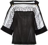 Alberta Ferretti lace detail blouse - women - Silk/Cotton/Polyamide - 46