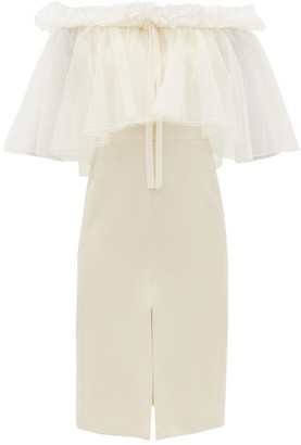 Giambattista Valli Off-the-shoulder Ruffled Cady Dress - White