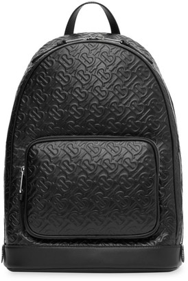 Burberry Monogram Leather Backpack