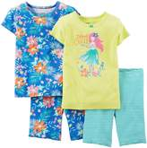 Carter's Baby Girls' 4 Piece Short PJ Set (Baby)