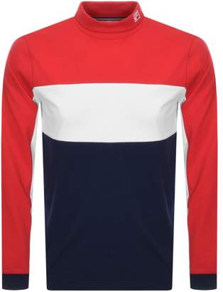 Fila Vintage Long Sleeve Roll Neck T Shirt Red