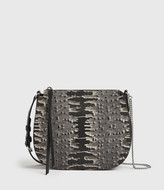 AllSaints Elsworth Leather Round Crossbody Bag