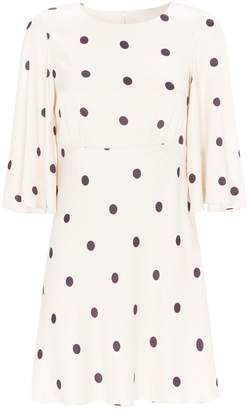 Shona Joy Shelby Polka-Dot Dress