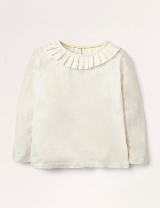 Pleated Collar Jersey Top