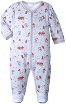 Kissy Kissy Fire Chief Print Footie (Baby) - Gray - 9 Months
