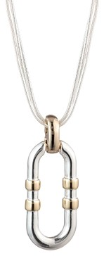 Ralph Lauren Two-Tone Link Pendant Necklace, 16
