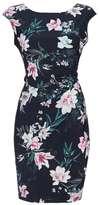 Wallis Petite Navy Floral Wrap Dress