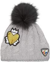 Rossignol Heart Cable Knit Hat, Grey, One Size