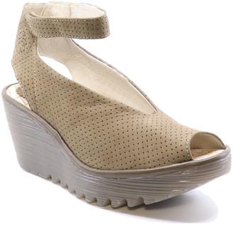 Fly London Yala Leather Wedge Sandal