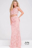 Jovani Sleeveless Two Piece Fitted Lace Dress JVN27618