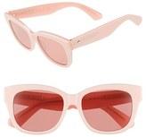 Kate Spade Women's 'Lorelle' 53Mm Cat Eye Sunglasses - Black/ White