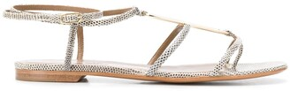 Hermes Ankle Strap Thong Sandals