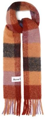Acne Studios Vally Checked Scarf - Brown Multi