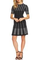 CeCe Women's Stripe A-Line Sweater Dress