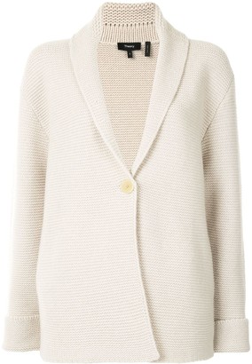 Theory Knitted Cotton Cardigan