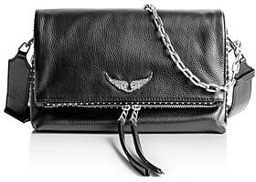 Zadig & Voltaire Rocky Studded Leather Shoulder Bag