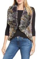 Blue Duck Woven Genuine Rabbit Fur Vest