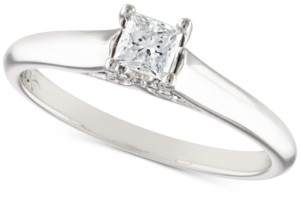 X3 Certified Diamond Engagement Ring (1/3 ct. t.w.) in 18k White Gold