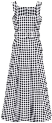 Emilia Wickstead Petra gingham cloque midi dress
